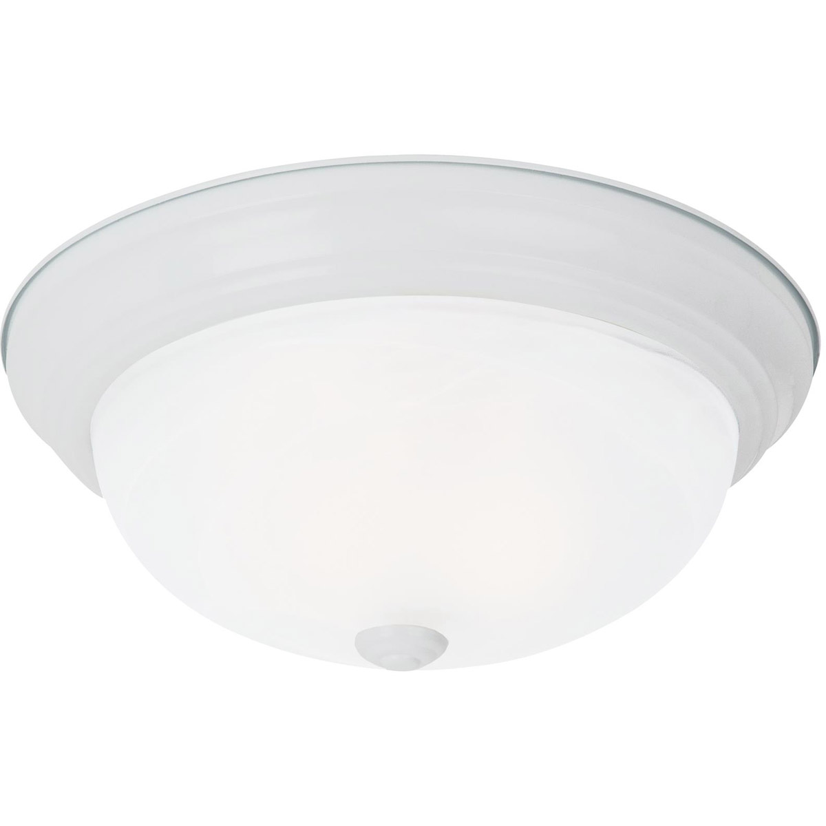 Sea Gull Lighting Windgate 3 Light Flush Mount in White 75943-15 photo
