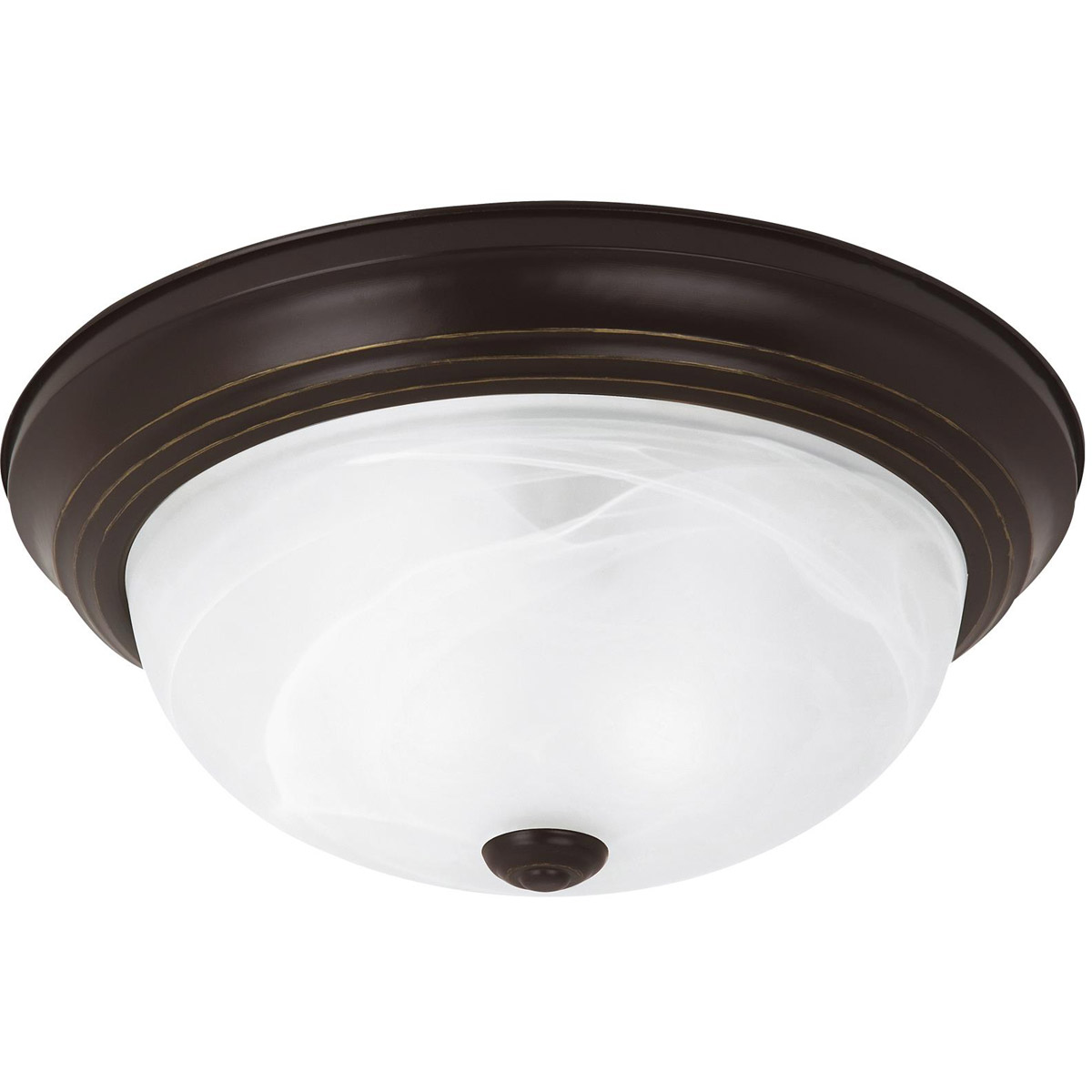 Sea Gull Lighting Windgate 3 Light Flush Mount in Heirloom Bronze 75943-782