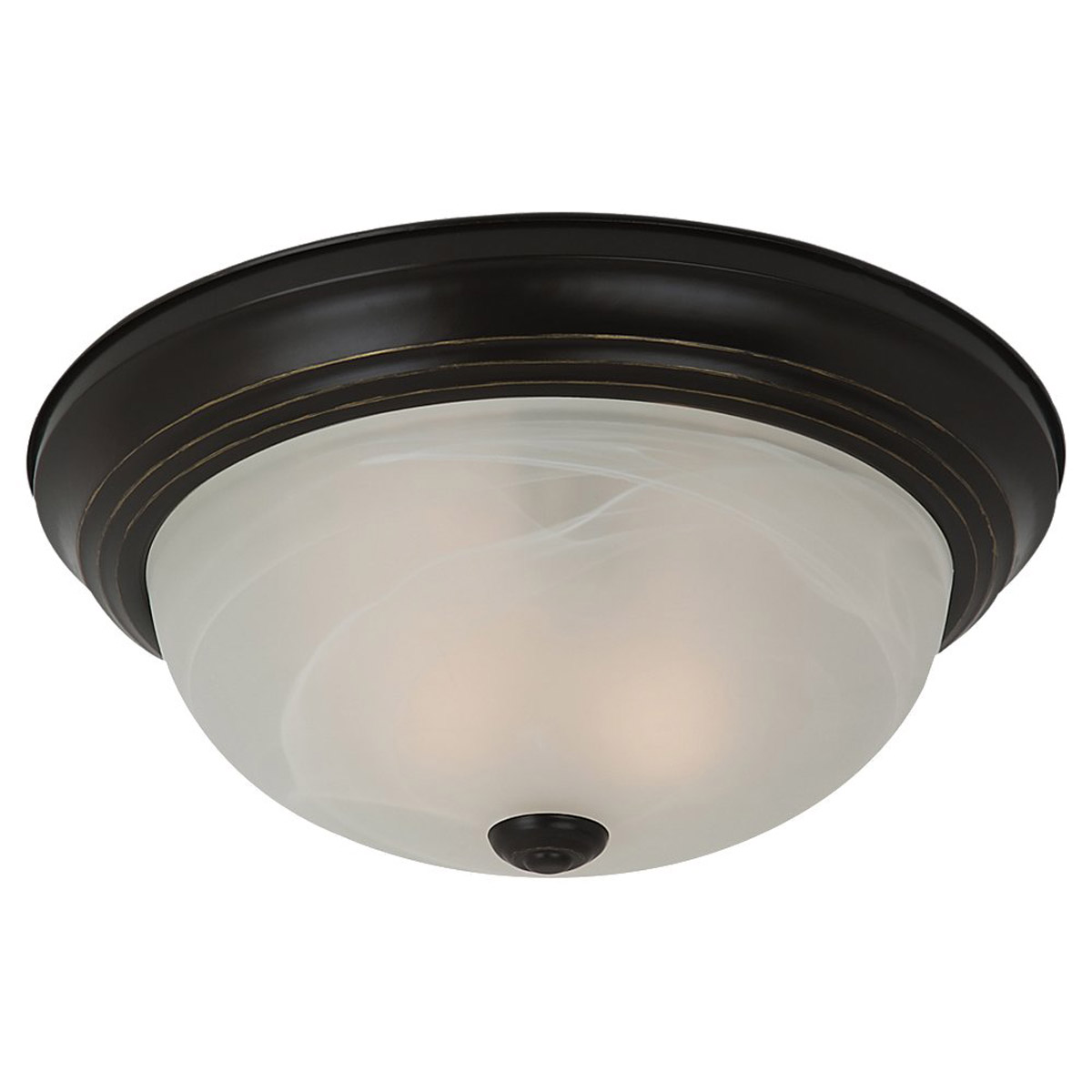 Sea Gull 75943BLE-782 Windgate 3 Light 15 inch Heirloom Bronze Flush Mount Ceiling Light in Fluorescent photo