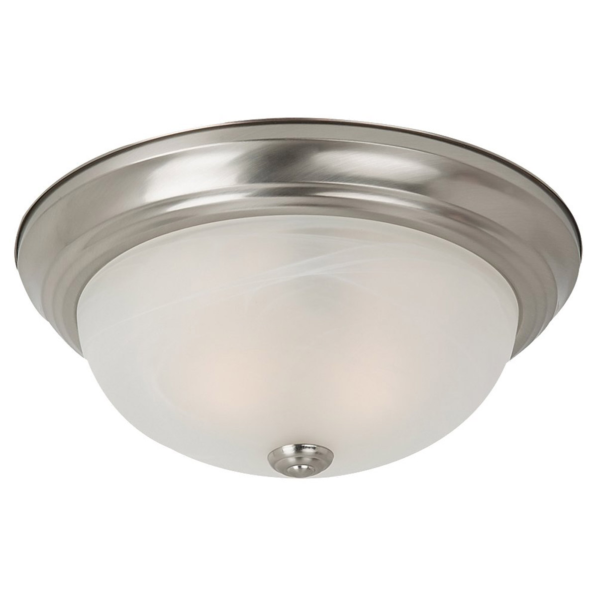Sea Gull Lighting Windgate 3 Light Flush Mount in Brushed Nickel 75943BLE-962