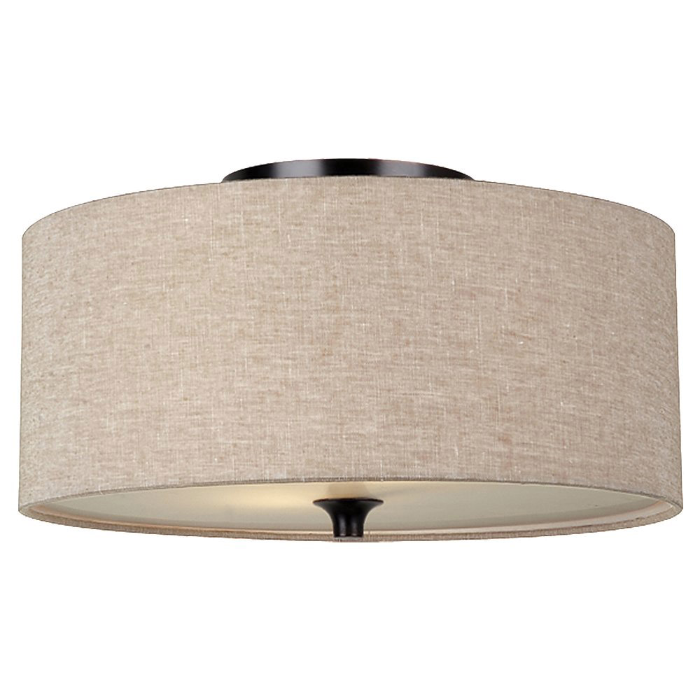 Sea Gull Lighting Stirling 2 Light Flush Mount in Burnt Sienna 75952BLE-710