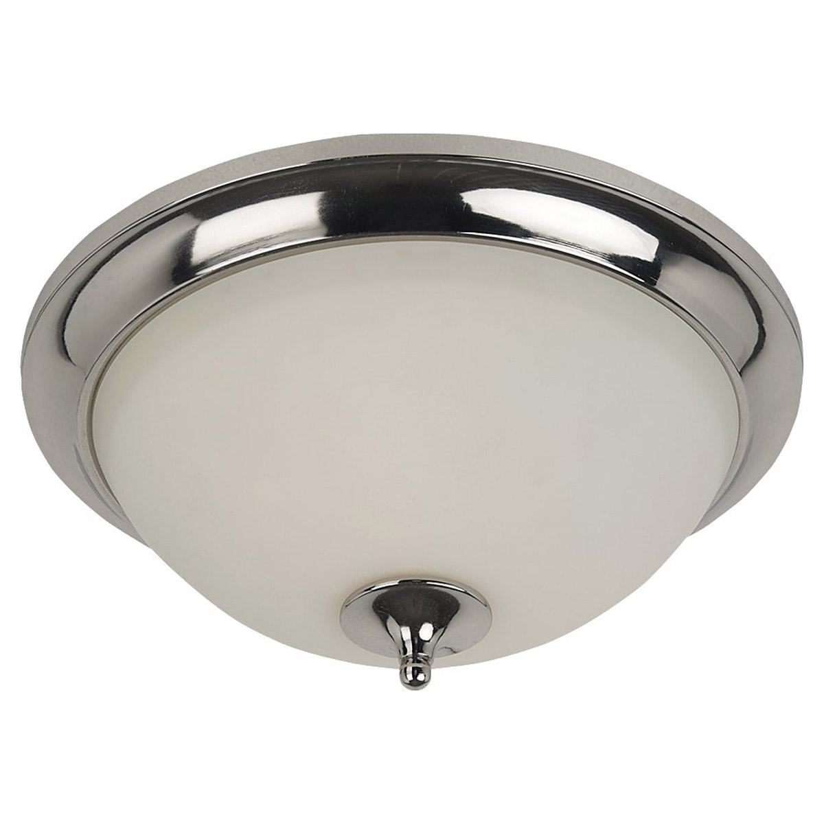 Sea Gull Lighting Solana 2 Light Flush Mount in Polished Nickel 75971-841