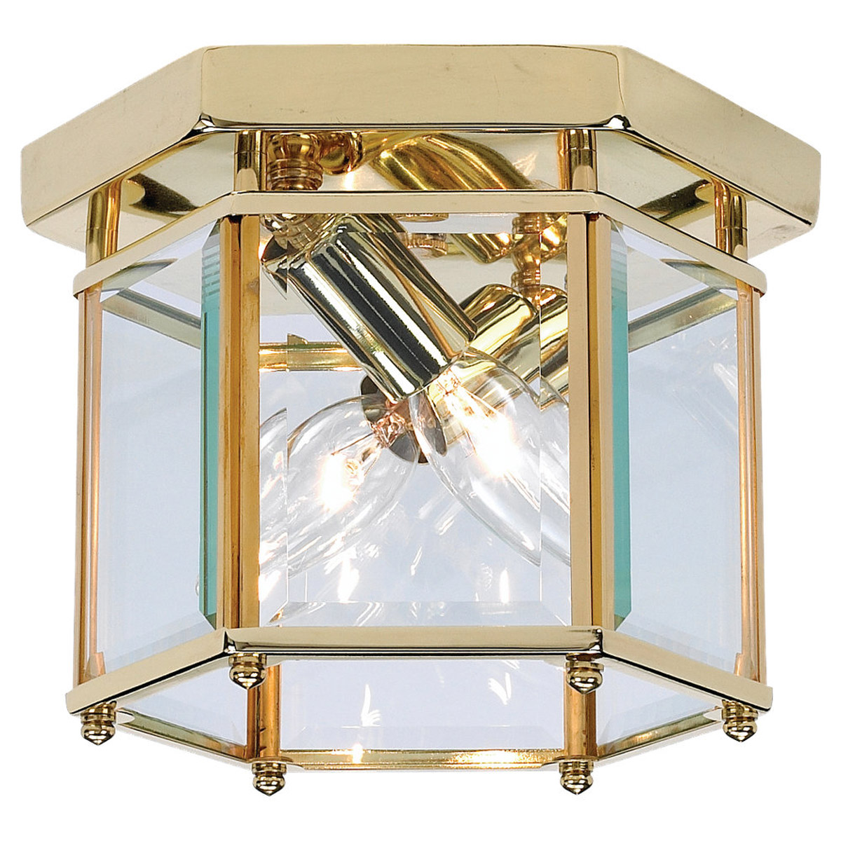 Sea Gull Lighting Bretton 2 Light Flush Mount in Polished Brass 7647-02