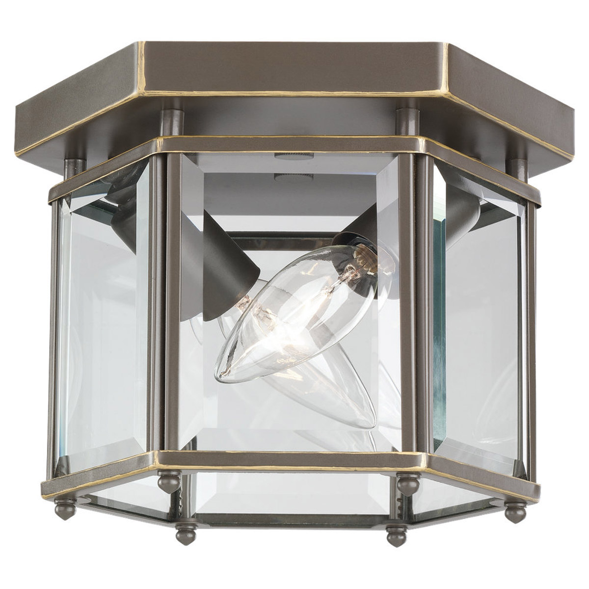 Sea Gull Lighting Bretton 2 Light Flush Mount in Heirloom Bronze 7647-782