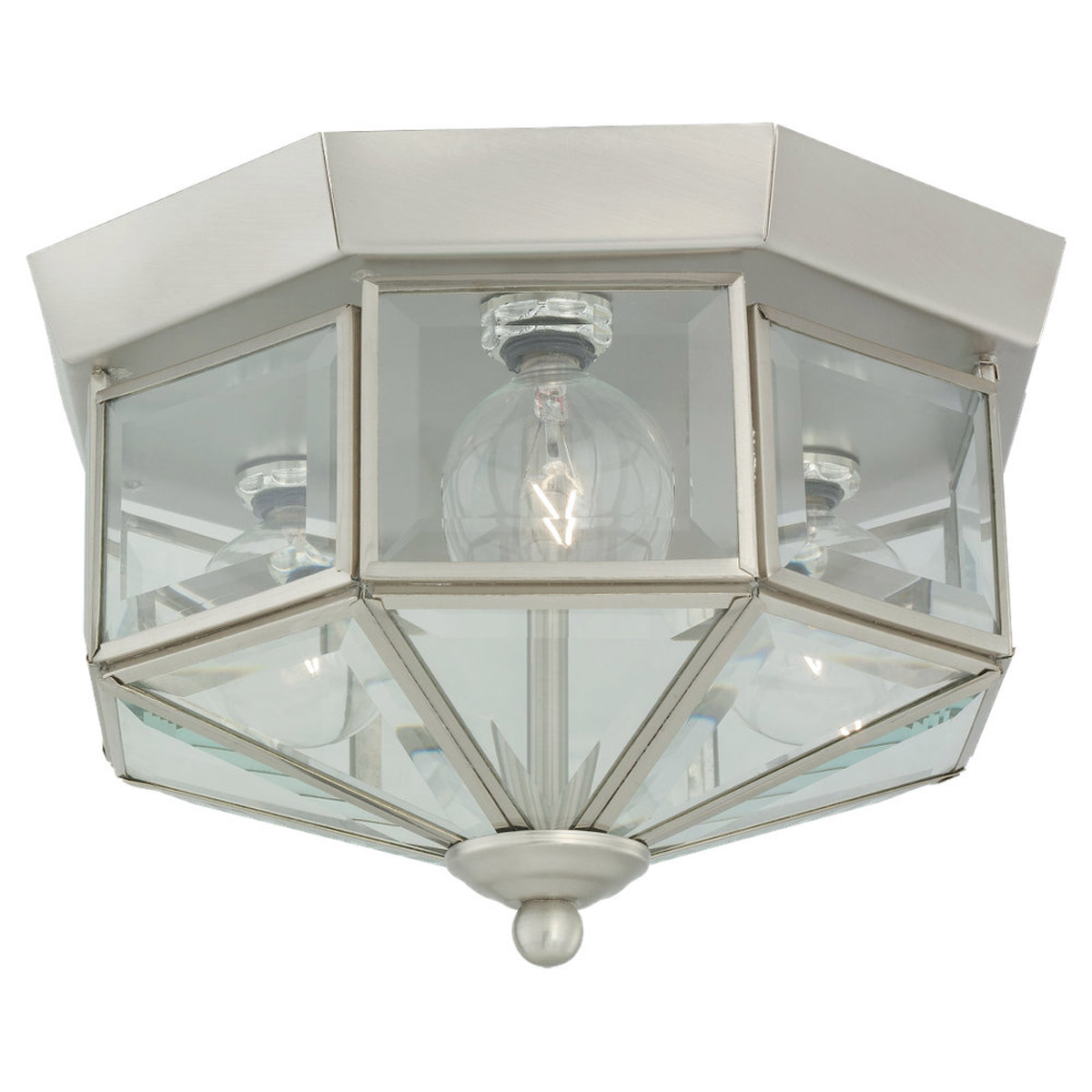 Sea Gull 7661-962 Grandover 3 Light 9 inch Brushed Nickel Flush Mount Ceiling Light photo