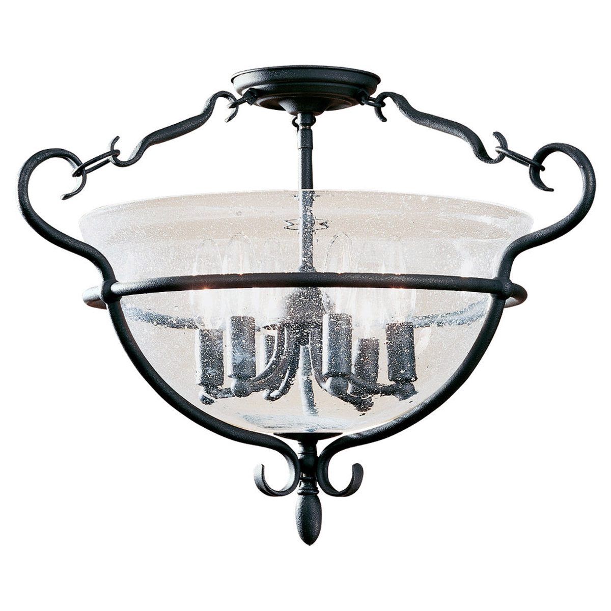 Sea Gull 7700-07 Manor House 6 Light 22 inch Weathered Iron Semi-Flush Mount Ceiling Light photo