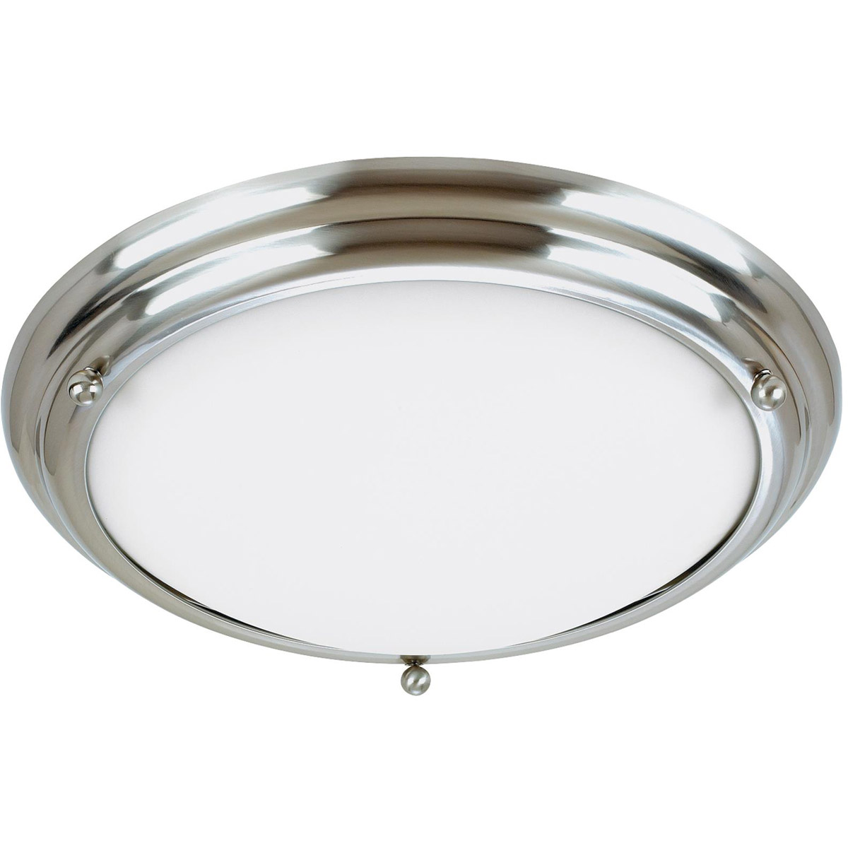 Sea Gull 77033-98 Centra 3 Light 21 inch Brushed Stainless Flush Mount Ceiling Light photo