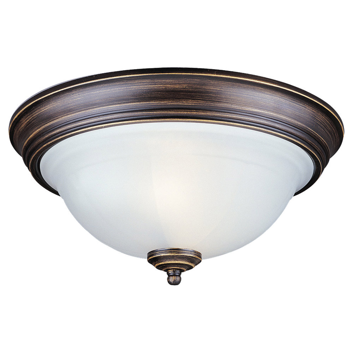 Sea Gull Lighting Canterbury 2 Light Flush Mount in Antique Bronze 77050-71