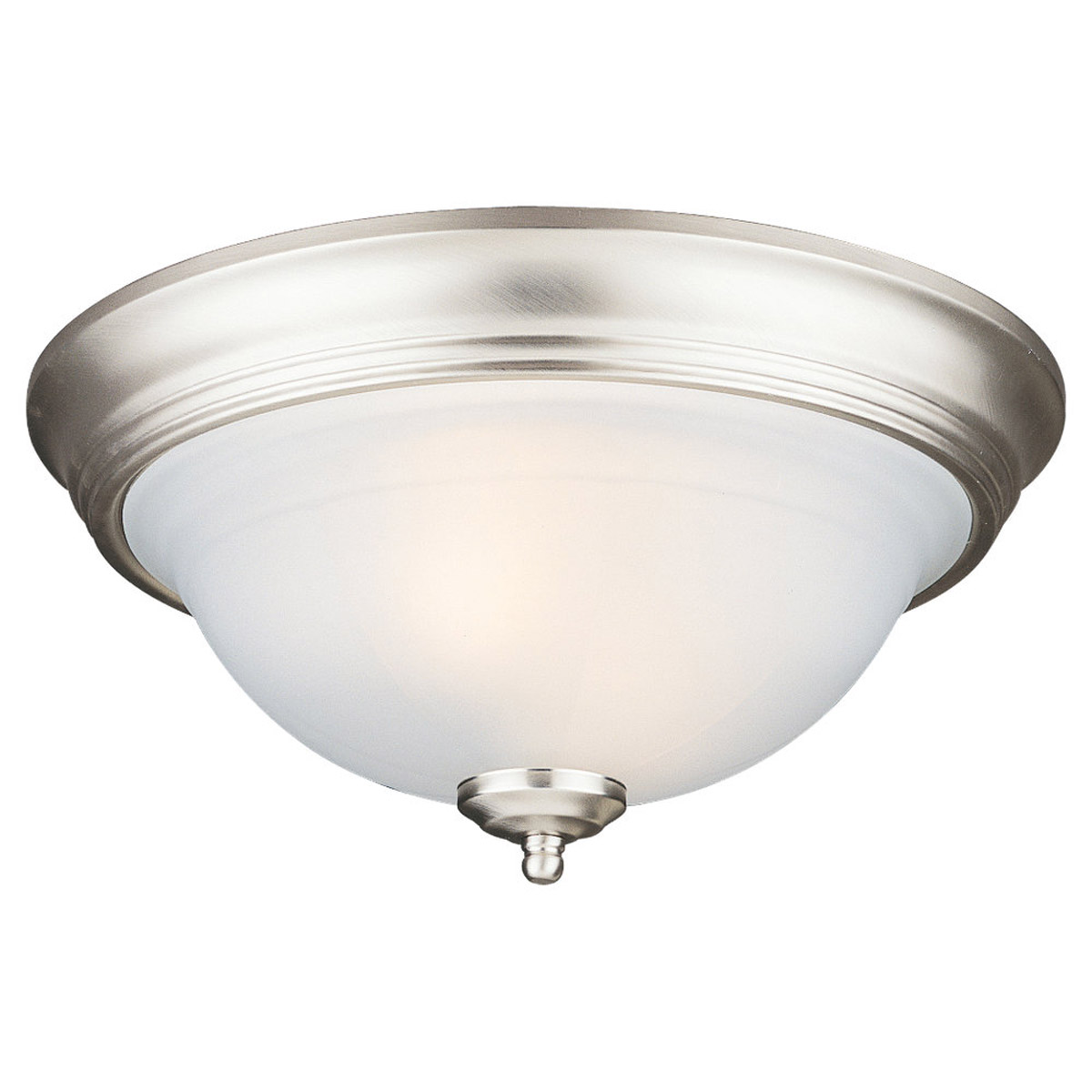 Sea Gull Lighting Canterbury 2 Light Flush Mount in Brushed Nickel 77050-962
