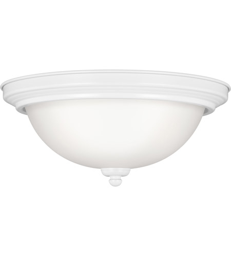 Sea Gull 77063S-15 Signature LED 11 inch White Flush Mount Ceiling Light in Satin Etched Glass photo