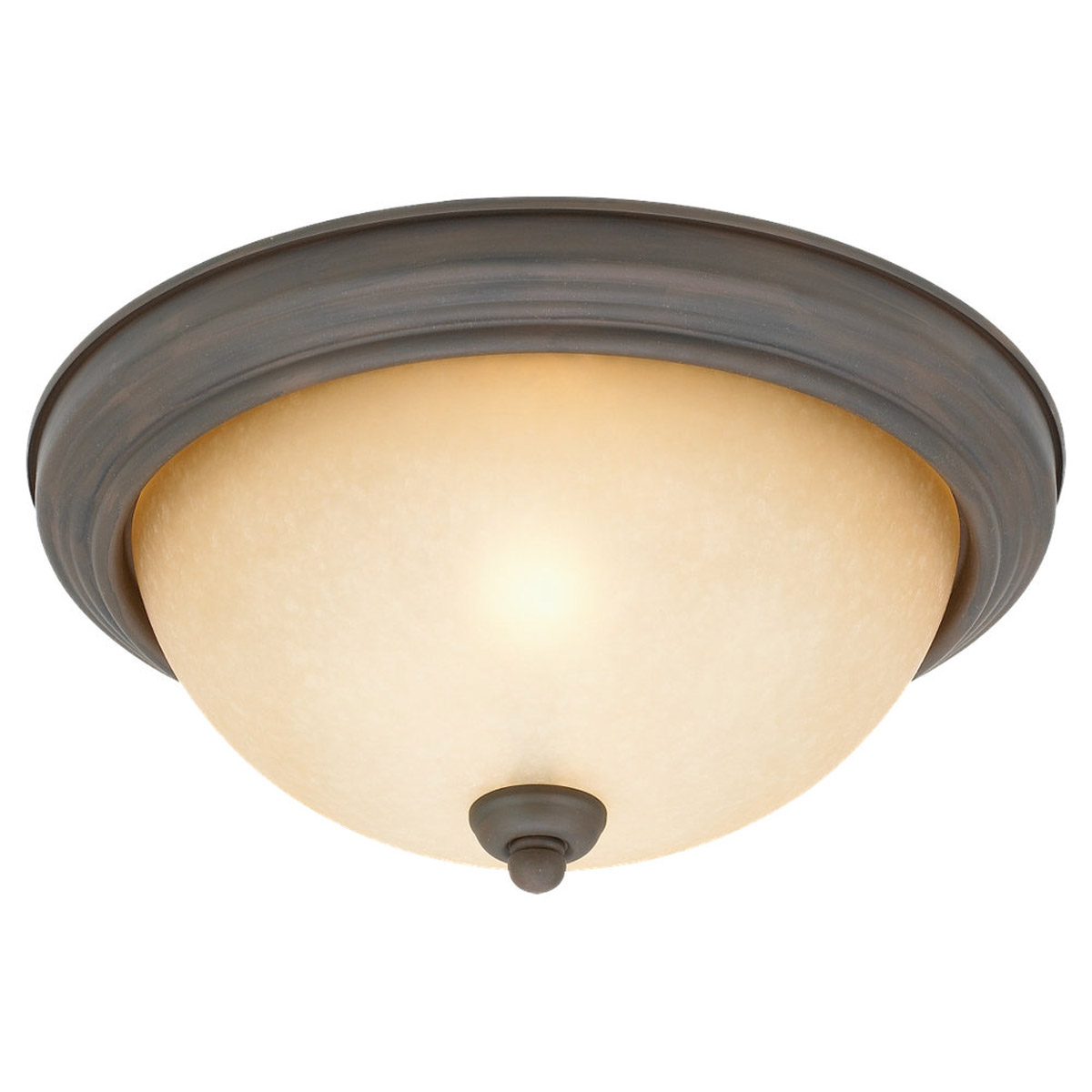 Sea Gull Lighting Montclaire 2 Light Flush Mount in Olde Iron 77064-72 photo