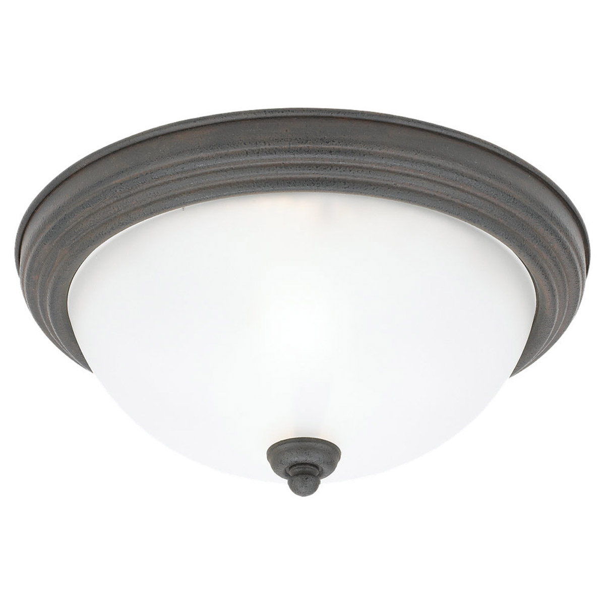 Sea Gull Lighting Pemberton 2 Light Flush Mount in Peppercorn 77064-799