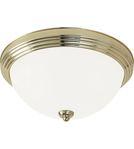 Sea Gull Signature 3 Light Flush Mount in Polished Brass 77065-02 photo