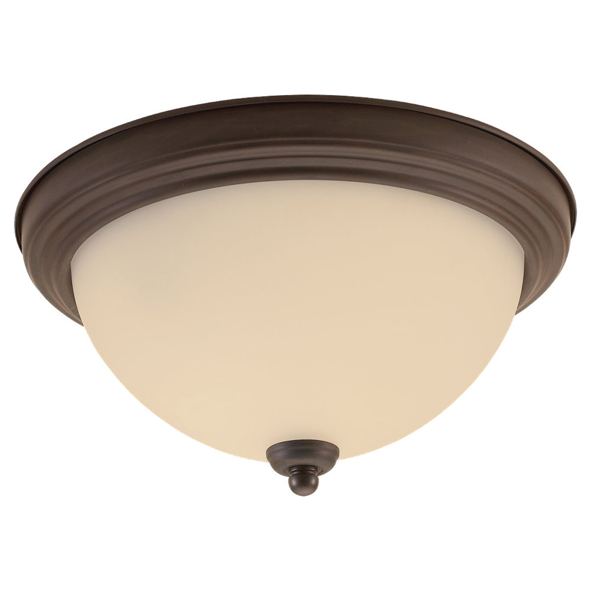 Sea Gull Lighting Montclaire 3 Light Flush Mount in Olde Iron 77065-72 photo