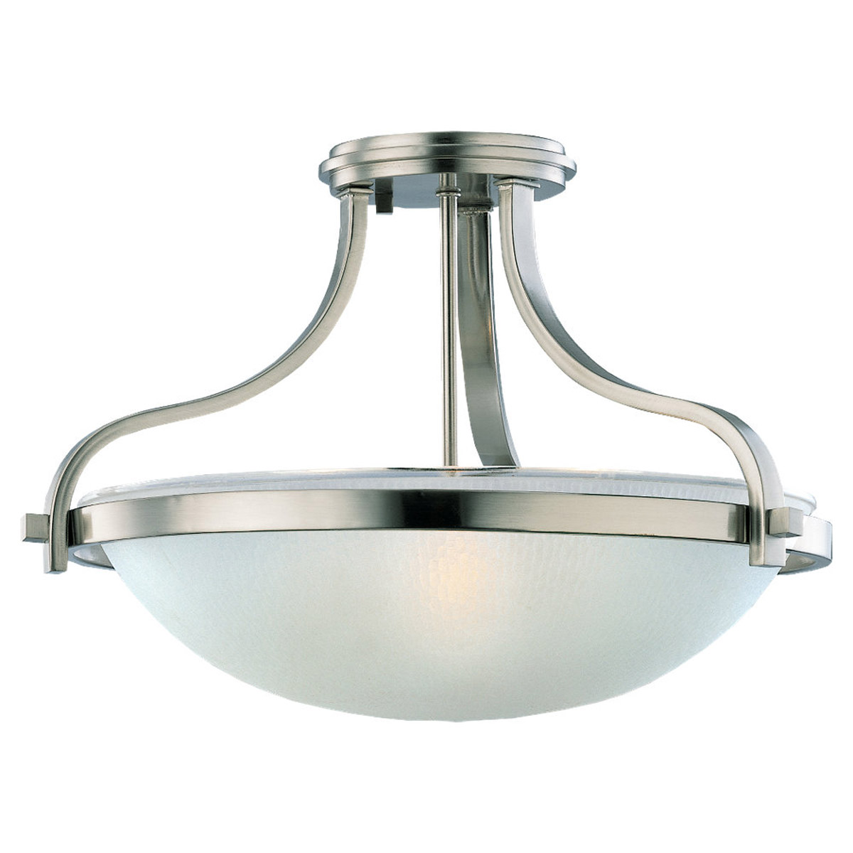 Sea Gull Lighting Eternity 3 Light Flush Mount in Brushed Nickel 77115-962