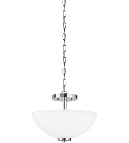 Sea Gull Lighting Oslo 2 Light Semi-Flush Mount Convertible in Chrome 77160-05