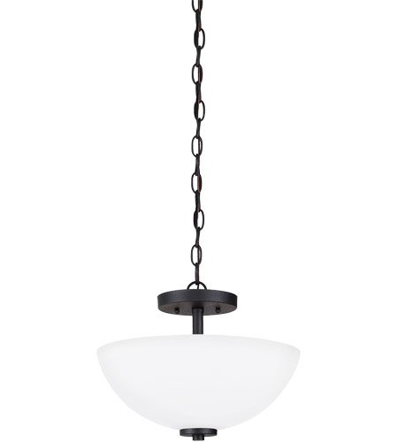 Sea Gull Lighting Oslo 2 Light Semi-Flush Mount Convertible in Blacksmith 77160-839