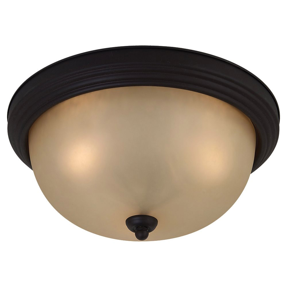 Sea Gull Lighting Del Prato 3 Light Flush Mount in Chestnut Bronze 77165-820