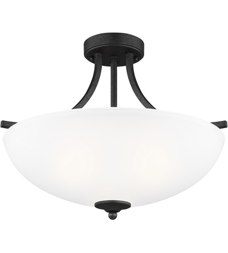 Sea Gull 7716503EN3-839 Geary 3 Light 19 inch Blacksmith Semi-Flush Convertible Pendant Ceiling Light photo thumbnail