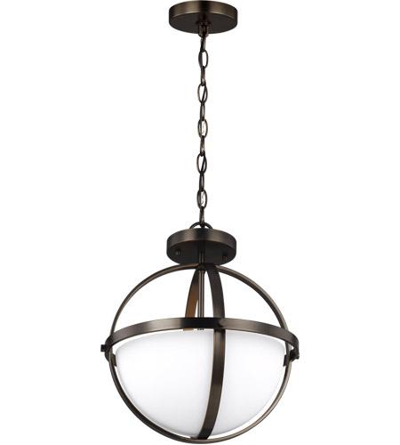 Alturas 2 Light 14 Inch Brushed Oil Rubbed Bronze Semi Flush Convertible Pendant Ceiling