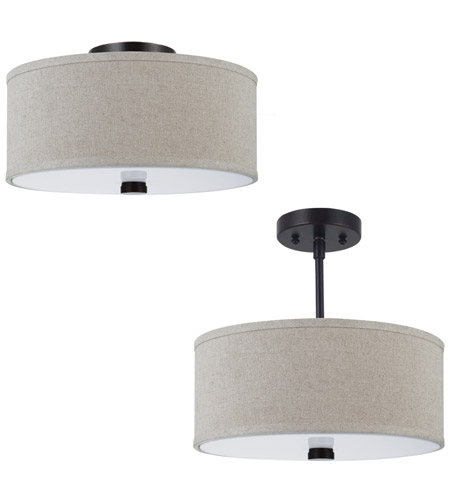 Sea Gull 77262-710 Dayna 2 Light 14 inch Burnt Sienna Semi-Flush Mount Ceiling Light in Standard photo