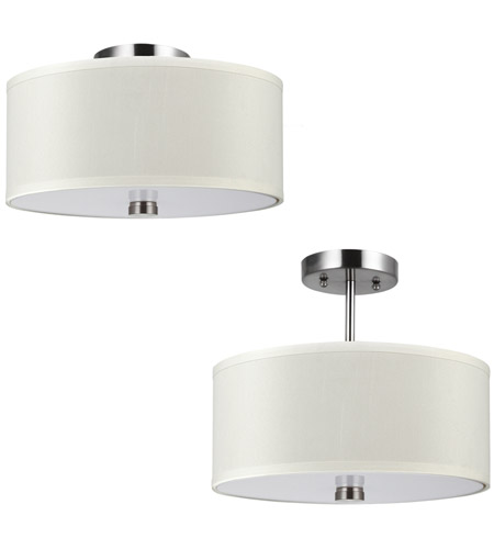 Sea Gull 77262BLE-962 Dayna 2 Light 14 inch Brushed Nickel Semi-Flush Mount Ceiling Light in Fluorescent photo