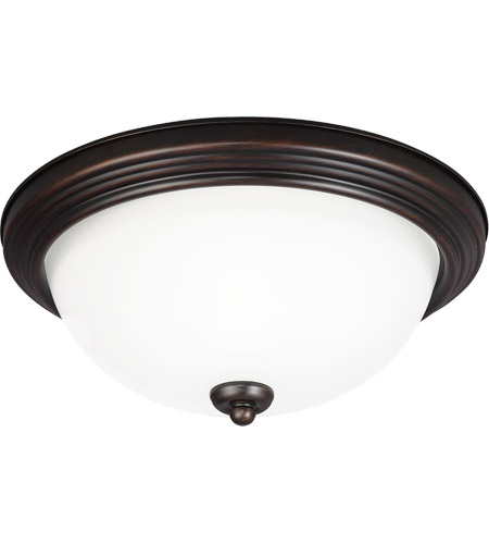 Sea Gull Signature 1 Light Flush Mount in Burnt Sienna 77263-710
