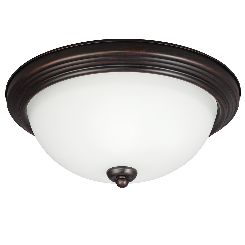 Sea Gull 77264S-710 Signature LED 13 inch Burnt Sienna Flush Mount Ceiling Light photo
