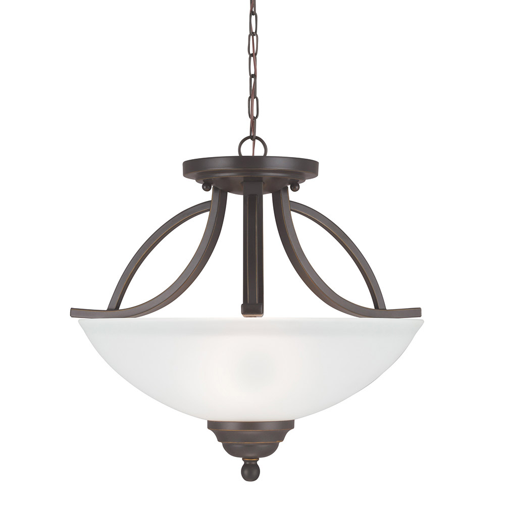 Sea Gull Vitelli 2 Light Semi-Flush Convertible Pendant in Autumn Bronze 7731402-715