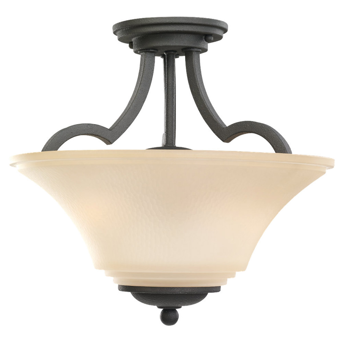 Sea Gull Somerton 2 Light Semi-Flush Convertible Pendant in Blacksmith 77375BLE-839