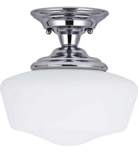 Sea Gull 77436-05 Academy 1 Light 12 inch Chrome Semi-Flush Mount Ceiling Light in Standard photo
