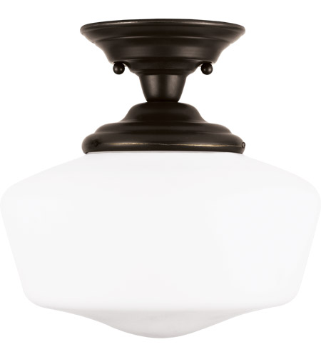 Sea Gull 77436-782 Academy 1 Light 12 inch Heirloom Bronze Semi-Flush Mount Ceiling Light in Standard photo