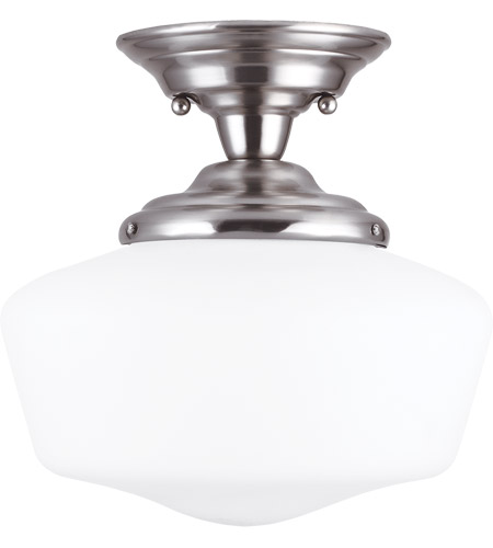 Sea Gull 77436-962 Academy 1 Light 12 inch Brushed Nickel Semi-Flush Mount Ceiling Light in Standard photo