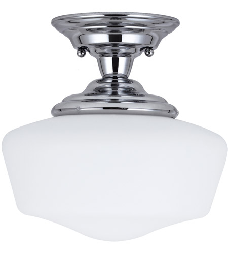 Sea Gull Lighting Academy Fluorescent 1 Light Semi-Flush Mount in Chrome 77436BLE-05