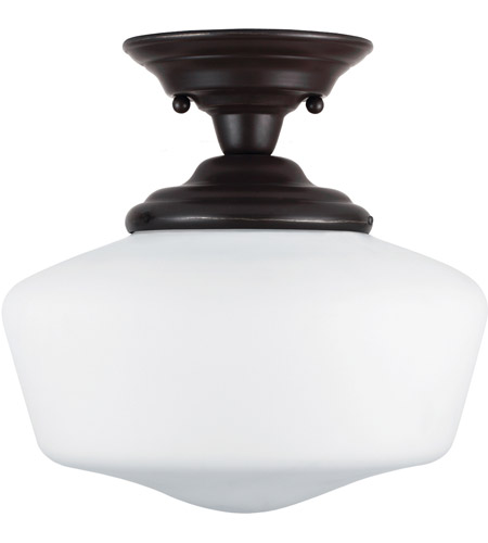 Sea Gull 77436BLE-782 Academy 1 Light 12 inch Heirloom Bronze Semi-Flush Mount Ceiling Light in Fluorescent photo
