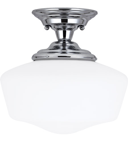 Sea Gull 77437-05 Academy 1 Light 13 inch Chrome Semi-Flush Mount Ceiling Light in Standard photo