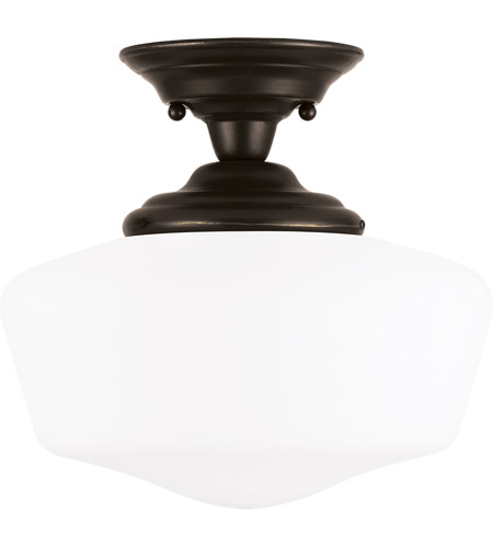 Sea Gull Lighting Academy 1 Light Semi-Flush Mount in Heirloom Bronze 77437-782