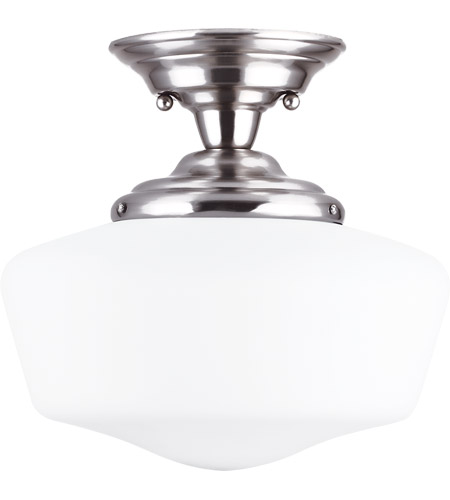 Sea Gull 77437-962 Academy 1 Light 13 inch Brushed Nickel Semi-Flush Mount Ceiling Light in Standard photo