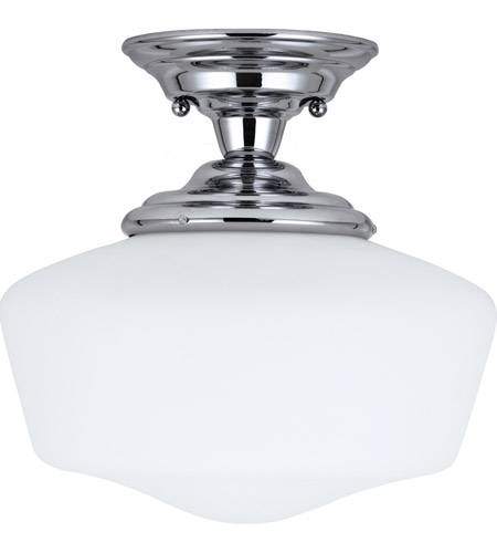 Sea Gull 77437BLE-05 Academy 1 Light 13 inch Chrome Semi-Flush Mount Ceiling Light in Fluorescent photo