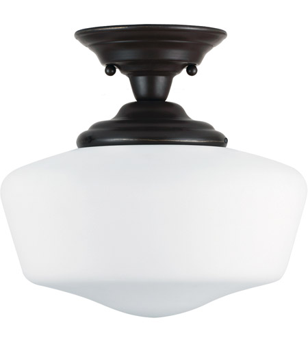 Sea Gull 77437BLE-782 Academy 1 Light 13 inch Heirloom Bronze Semi-Flush Mount Ceiling Light in Fluorescent photo