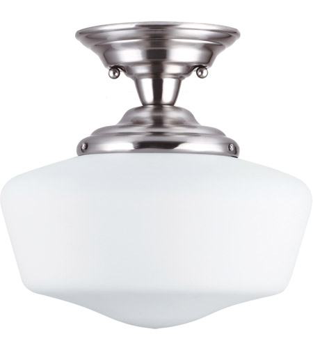 Sea Gull 77437BLE-962 Academy 1 Light 13 inch Brushed Nickel Semi-Flush Mount Ceiling Light in Fluorescent photo