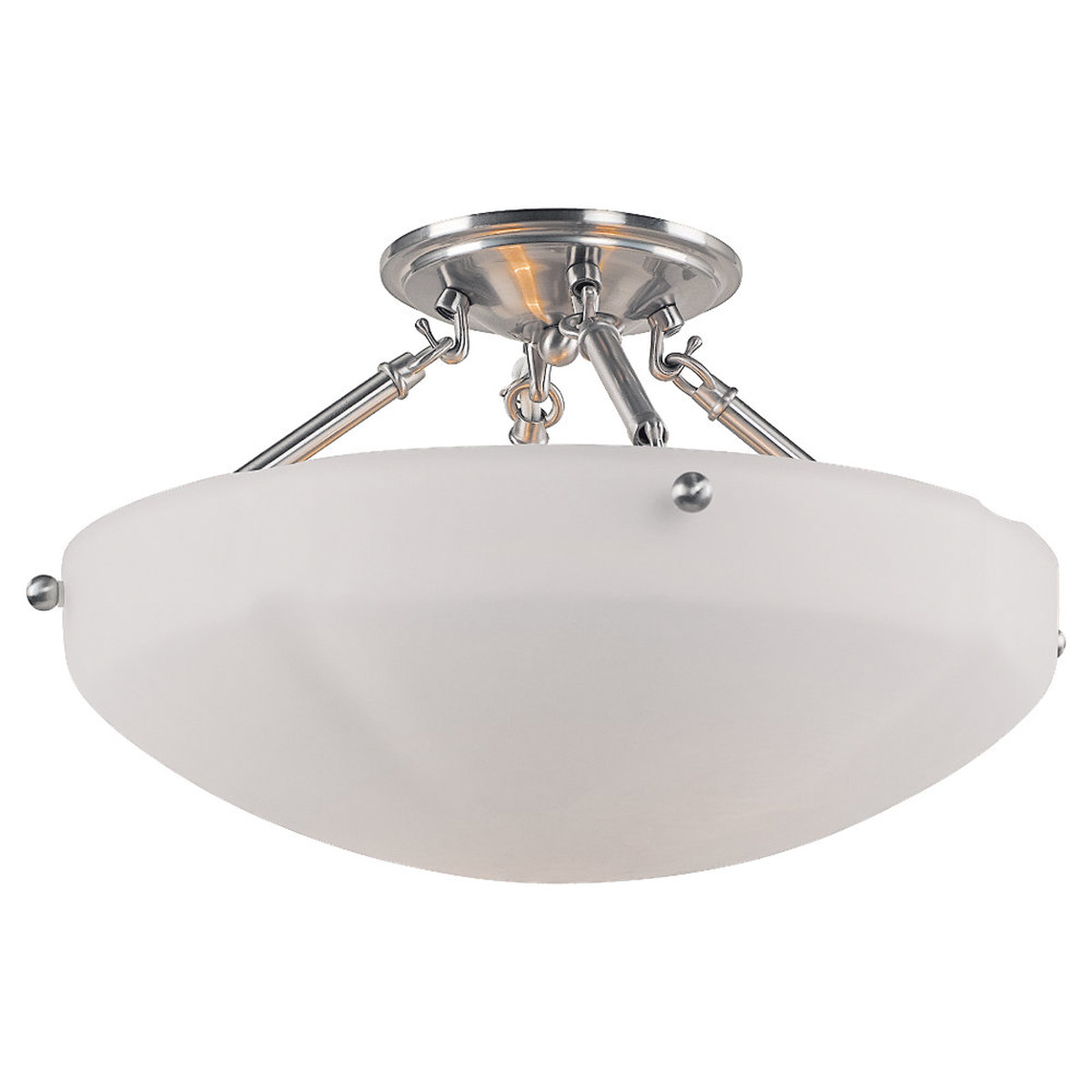 Sea Gull Lighting Century 2 Light Flush Mount in Brushed Nickel 77474-962