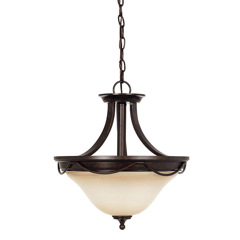 Sea Gull Park West 2 Light Semi-Flush Convertible Pendant in Burnt Sienna 77497-710