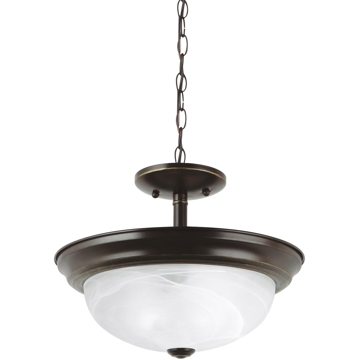 Sea Gull Lighting Windgate 2 Light Semi-Flush Mount in Heirloom Bronze 77950-782