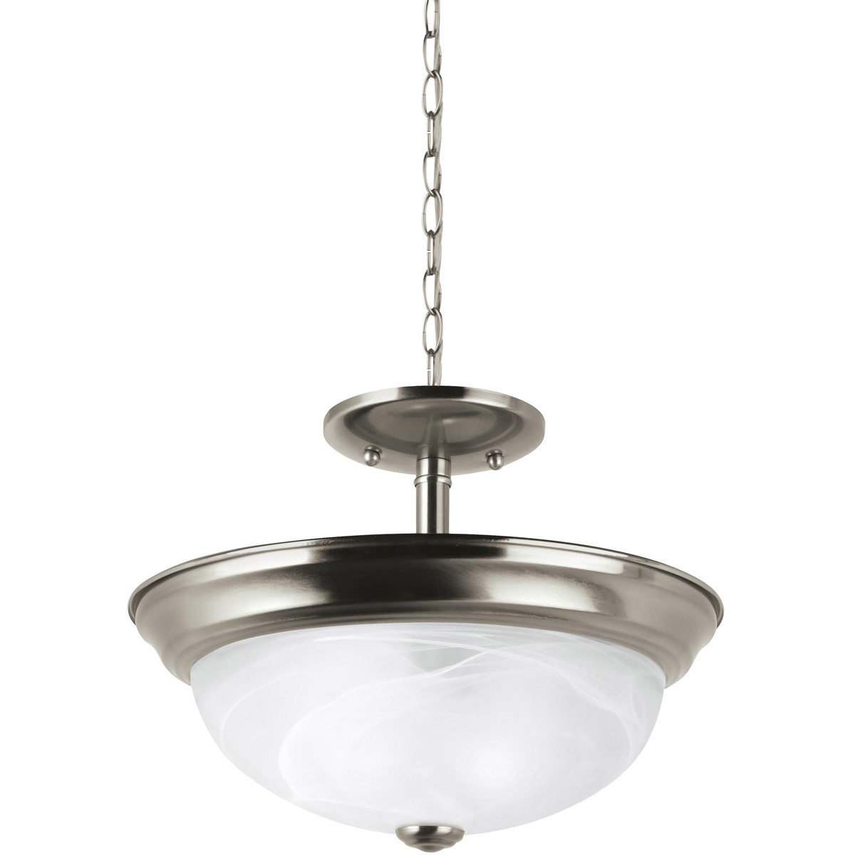 Sea Gull Lighting Windgate 2 Light Semi-Flush Mount in Brushed Nickel 77950-962