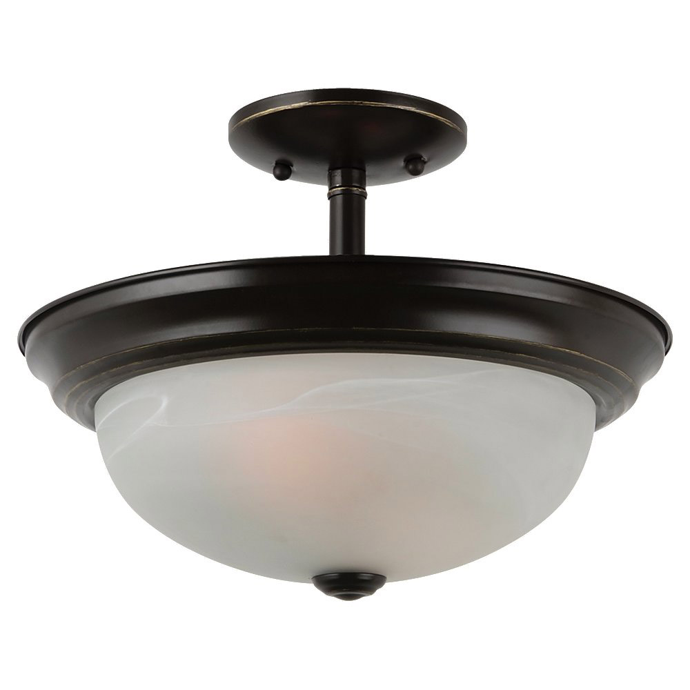 Sea Gull Lighting Windgate 2 Light Semi-Flush Mount in Heirloom Bronze 77950BLE-782