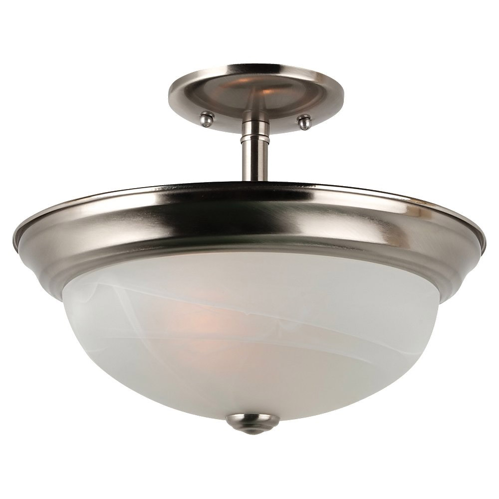 Sea Gull Lighting Windgate 2 Light Semi-Flush Mount in Brushed Nickel 77950BLE-962 photo