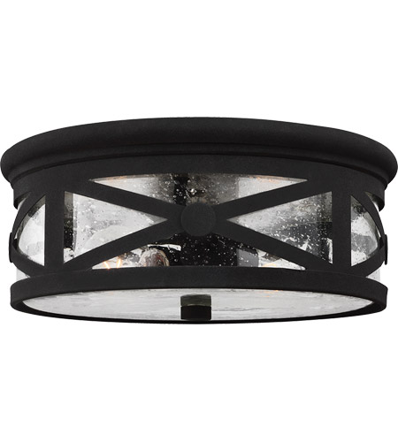 Sea gull 7821402 12 lakeview 2 light 13 inch black outdoor flush sea gull 7821402 12 lakeview 2 light 13 inch black outdoor flush mount in clear workwithnaturefo