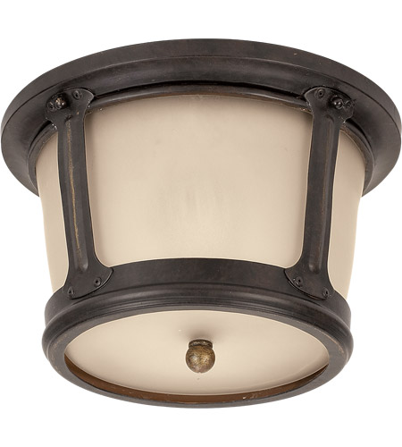 Sea Gull Lighting Cape May 1 Light Outdoor Ceiling Fixture in Burled Iron 78240-780
