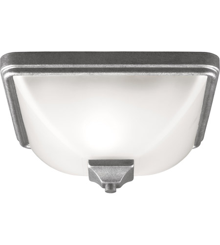 Sea Gull Irving Park 1 Light Outdoor Flush Mount in Weathered Pewter 7828401-57
